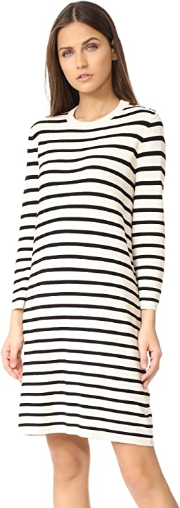 Theory 希尔瑞 女式七分袖条纹连衣裙 S码3.2折$126.62 海淘转运到手约¥918