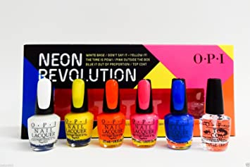 amazon com mini nail polish set neon revolution 6 x 1 8 oz each
