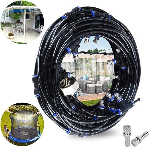 CT Kit Nebulizadores para Terrazas, Sistema de Nebulizacion para Exteriores jardín Pergola, DIY automático riego para Invernaderos, Jardines, Terrazas y Césped(18M): Amazon.es: Jardín