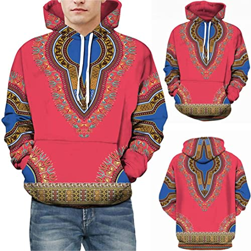 4f0d1d900db73 Amazon.com: Amiley mens hoodies, Mens Print African Dashiki Hoodies Casual  Sweatshirts with Kangaroo Pockets Pink: Shoes