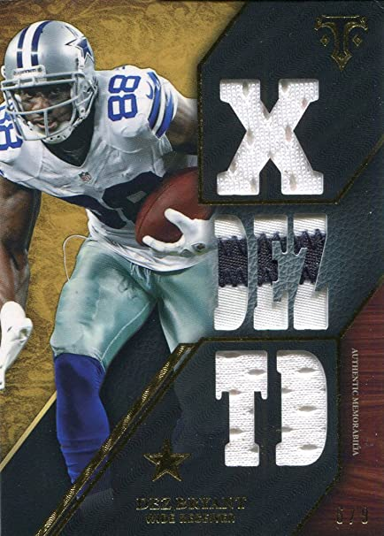 Dez Bryant Unsigned 2014 Topps Triple Thread Relic Card At