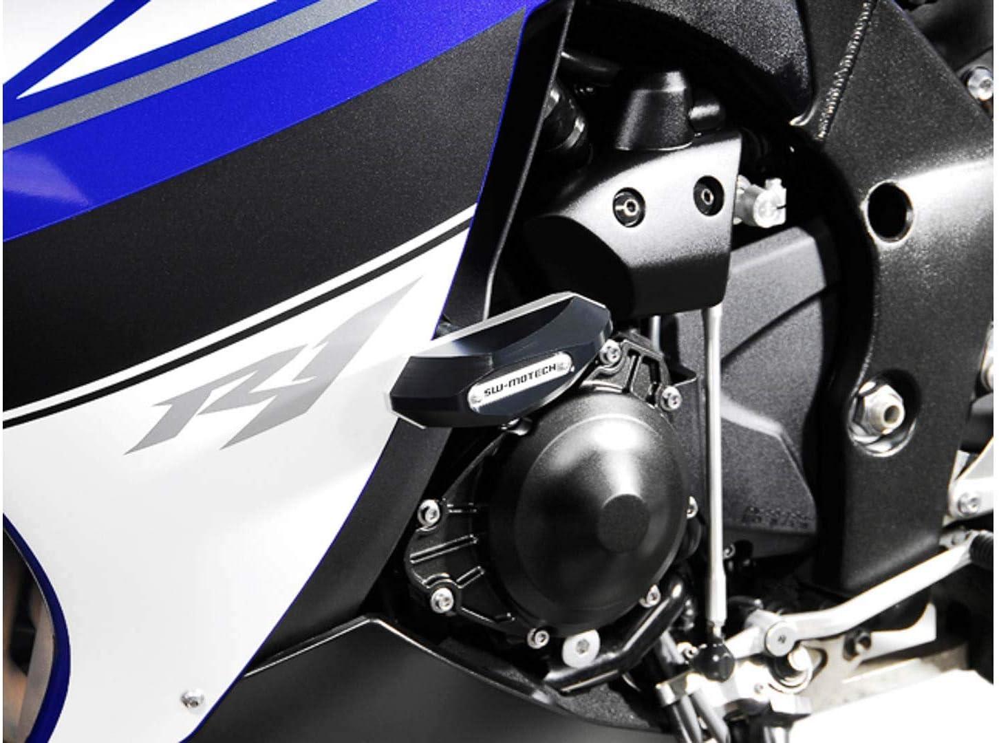 09-14 Schwarz Yamaha YZF-R1 . SW-Motech Sturzpad-Kit