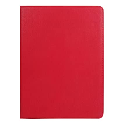Emartbuy Smart Hard Back Flip Stand Wallet Cover for Lenovo Ideatab MIIX 3 1030 Tablet PC 10.1 Inch : Size  9 10 Inch    Red Plain Tablet Accessories