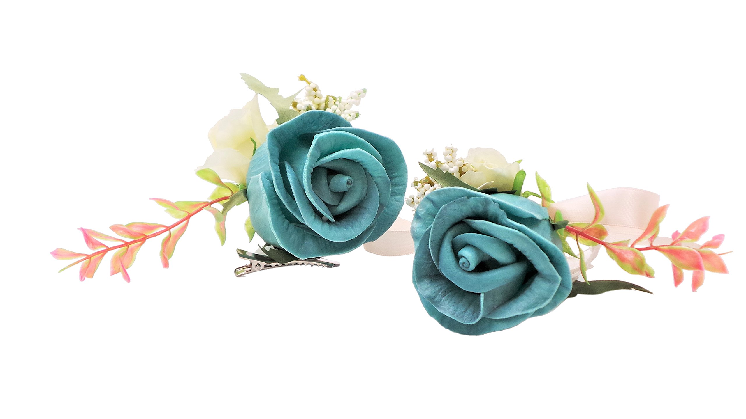 Abbie-Home-Real-Touch-Prom-Corsage-Boutonniere-Set-Flower-Pin-Wristlet-for-Party