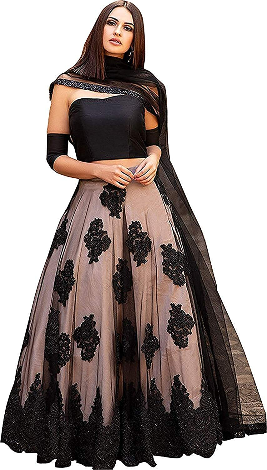 a6f138f095 Suppar Sleave women's Embroidered multi colour Semi Stitched lehengas, lehenga  choli (Black_JK1,FreeSize): Amazon.in: Clothing & Accessories