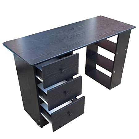 Home Treats ® Computer Desk With 3 Drawers U0026 4 Shelves, Home Office  Workstation (