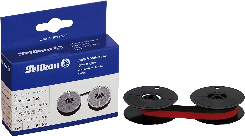 Pelikan 571984 - Cinta para Olivetti Grupo 8 D, color negro y rojo (bicolor)
