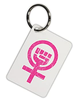 TooLoud rosa envejecido feminismo símbolo aluminio llavero ...