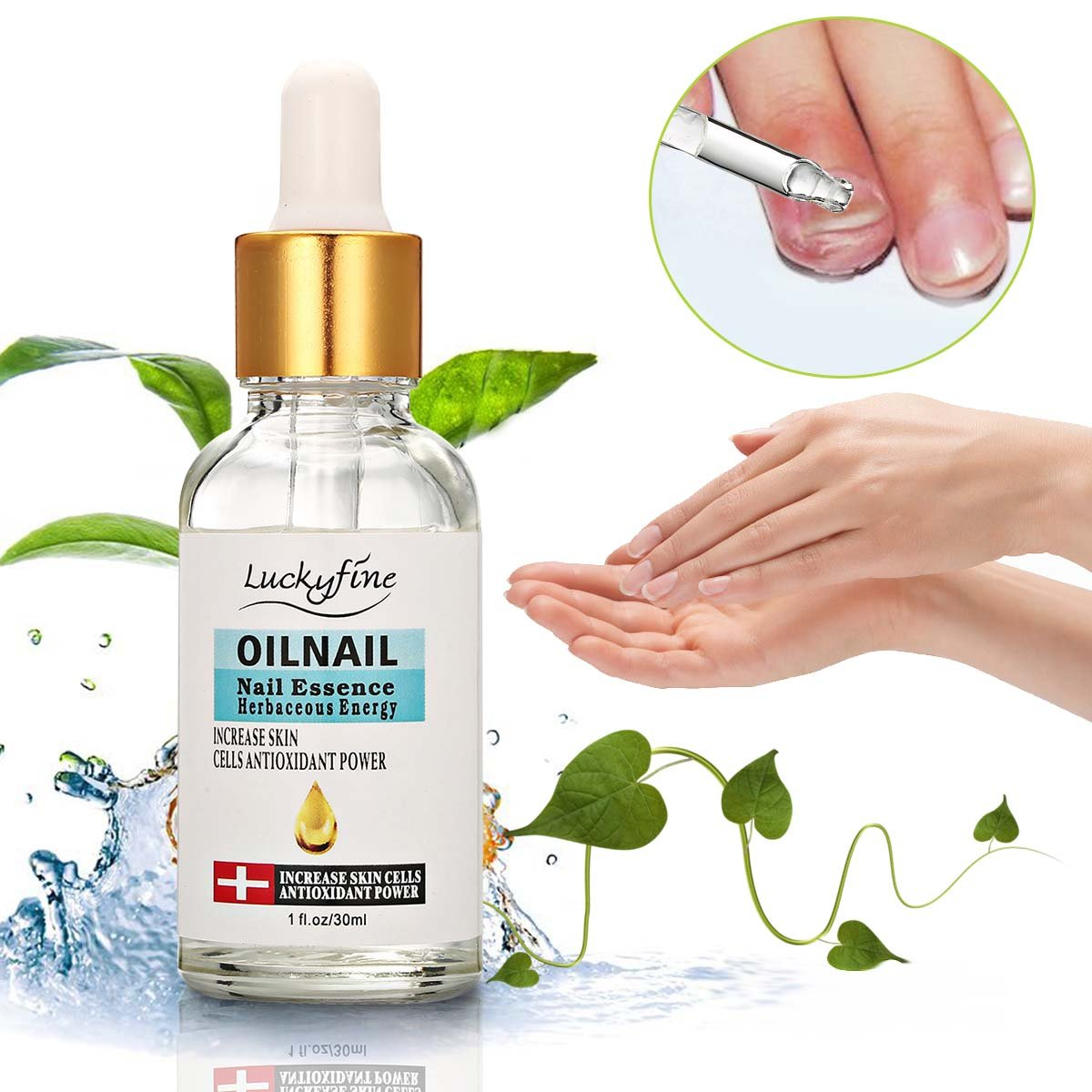 Nail Essence 30ml Luckyfine, Nail treatment, Protection for damaged Nail, Finger Toe Anti Fungal Nail, Smooth Shiny Nail, Nail Care Gift for Girls, Women