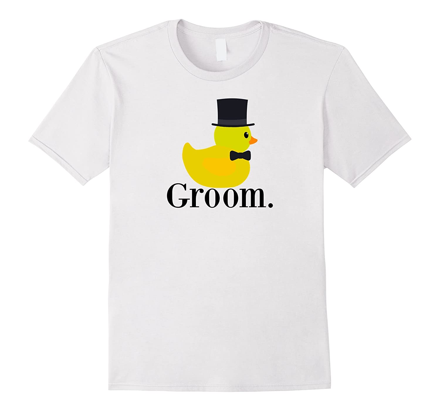 Mens Rubber Duck Groom for Bridegroom, Funny Husband to Be Shirt-FL