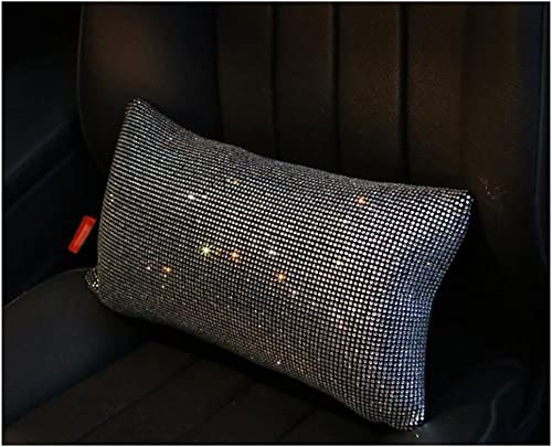 LuckySHD Car Seat Waist Pillow Fashion Lower Back Cushion Support with Bling Rhinestone
