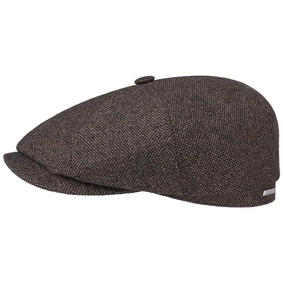 63ce17b5 Stetson Hatteras Wool Mix Flat Cap Ivy hat: Amazon.co.uk: Clothing