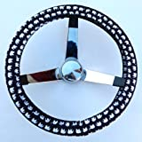 Mana Trading Handmade Steering Wheel Cover Elephants Black and White
