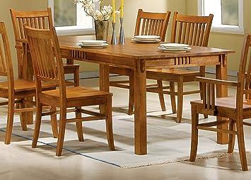 Amazon.com - Coaster 100621 Mission Style Dining Table, Burnished ...