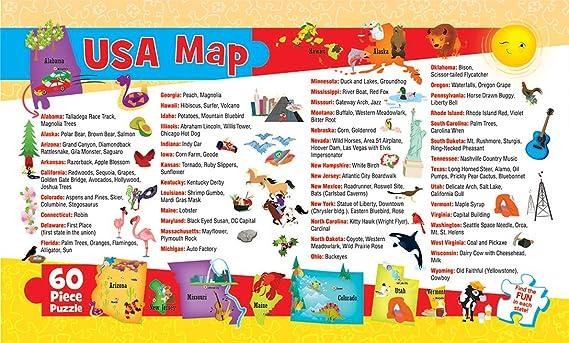 USA MAP (60 PC Childrens Puzzle): Masterpieces: Amazon.es: Juguetes y juegos