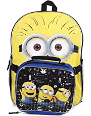 Despicable Me The Minions School Backpack and Lunch Bag Kit for Kids - 16 Inches