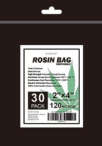 BITOMIC Rosin Bags -2x4 Inch (30 Pack) | 120 Micron Bags Maxi Heat 302? | Food-Grade Nylon Bag - Easy Press for Heat Press Machine | Pre-heat Rosin Press Tea Filter Bags for Rosin Press Machine