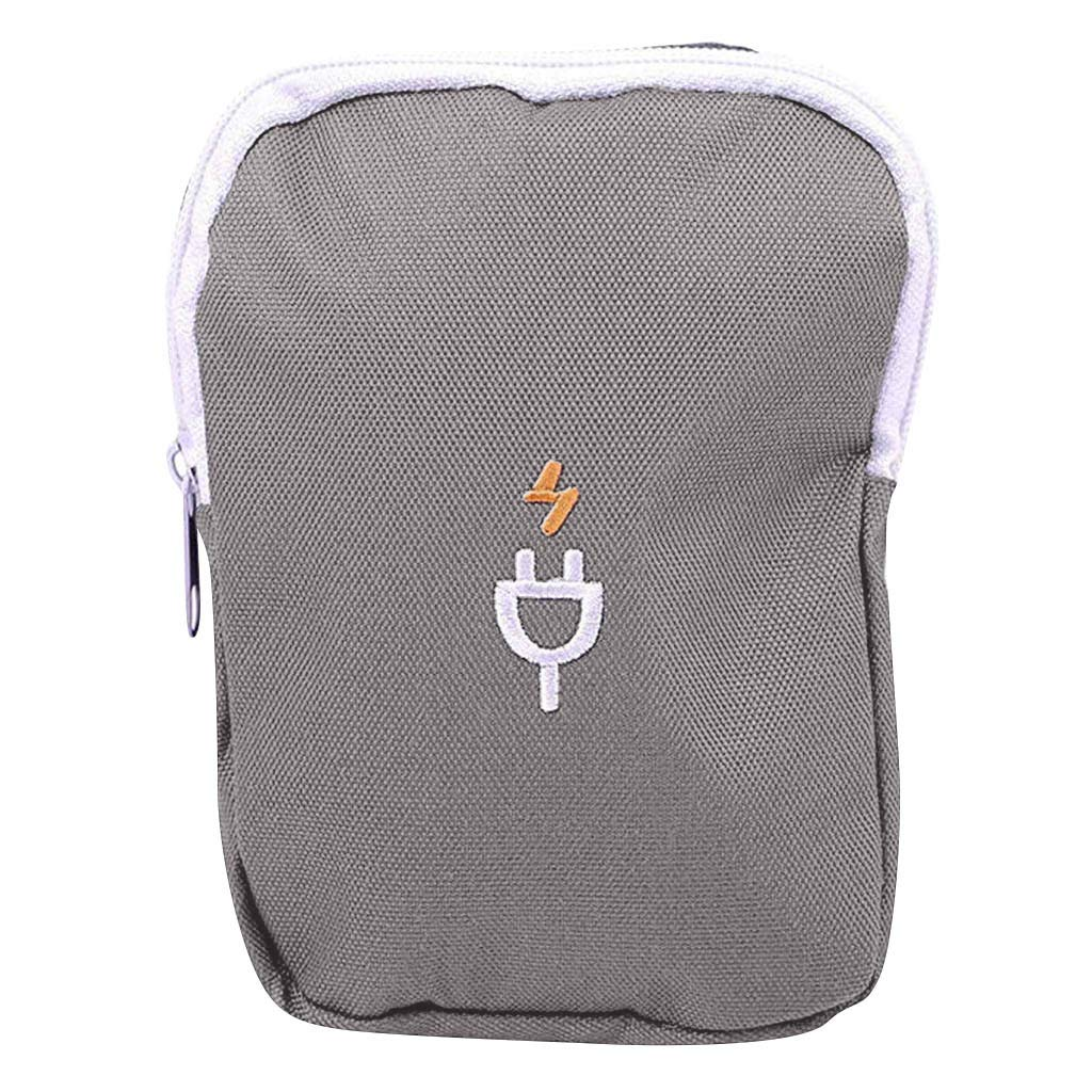 YJYdada Waterproof Travel Storage Bag Electronics USB Charger Case Data Cable Organizer (Grey)