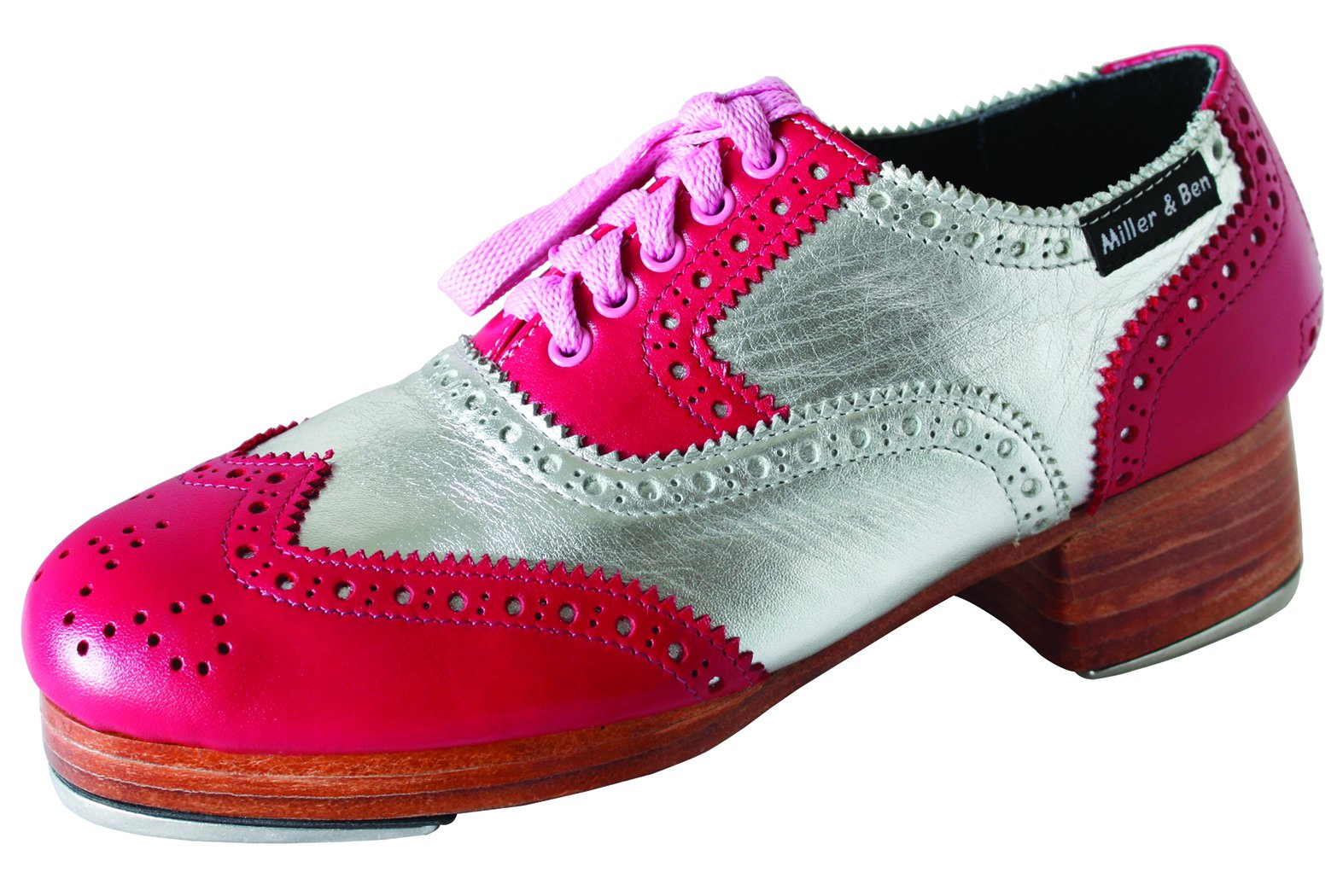 Miller & Ben Tap Shoes; Triple Threat; Pink & Silver (GT) - Royal - STANDARD SIZES ONLY (38.5 Regular)