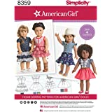 """SIMPLICITY 8359 18"""" American Girl Doll Clothes SEWING PATTERN"""
