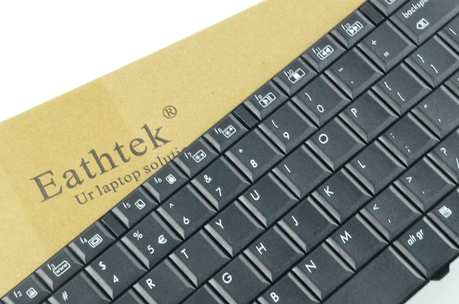 Eathtek Replacement Keyboard for HP Pavilion G60 Compaq Presarion CQ60 CQ60-100 G60-100 CQ60-200 CQ60-300 Series Black US Layout 90.4AH07.S01 9J.N0Y82.A01 Compatible with part# 496771-001 NSK-HAA01 MP-08A93US-442