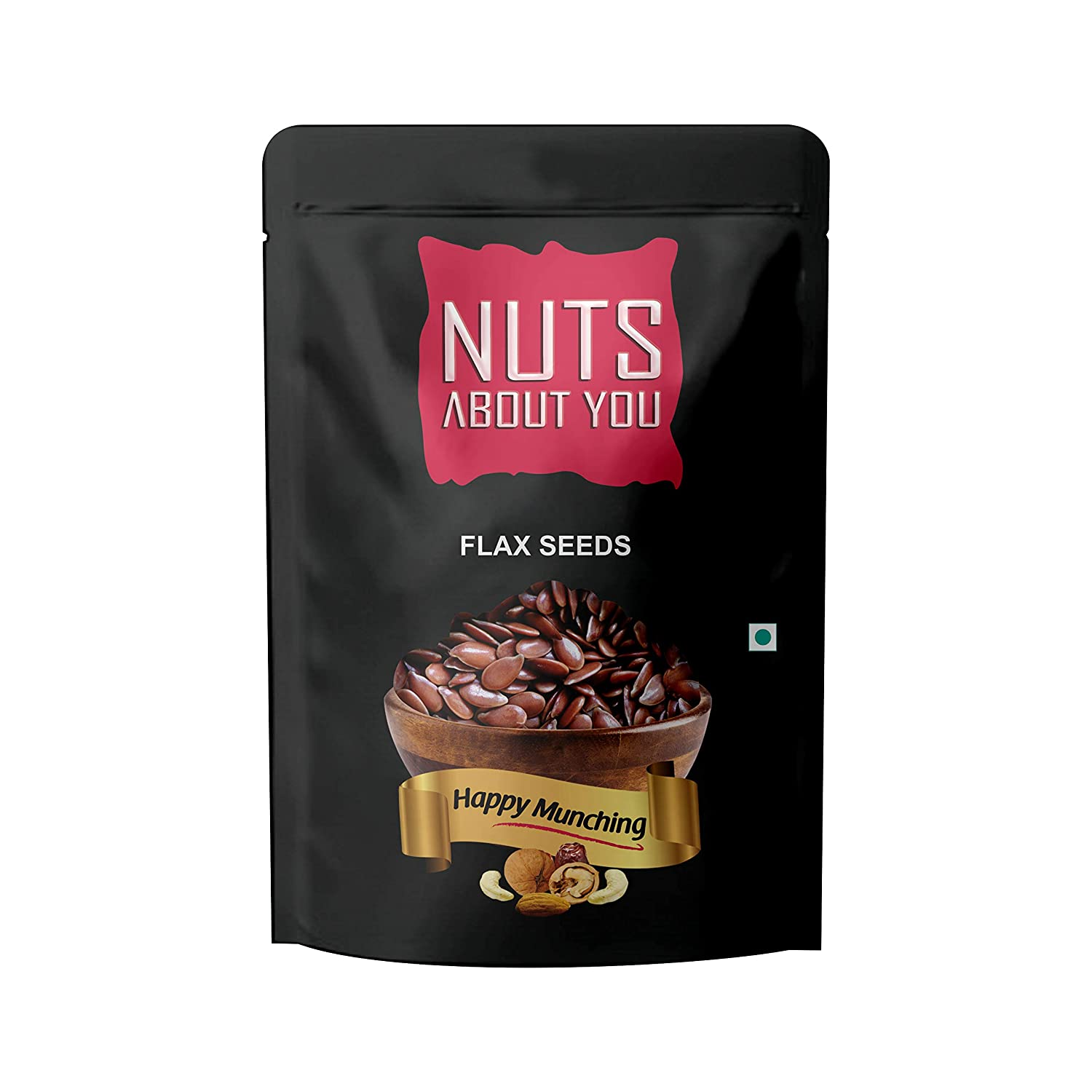 NUTS ABOUT YOU Flax Seeds Pouch, 2 x 250 g