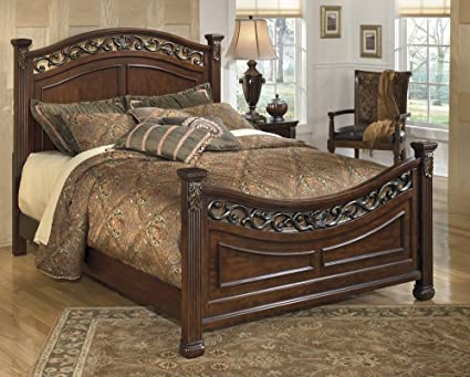 Sensational Ashley Furniture Signature Design Leahlyn Panel Headboard Queen Size Component Piece Grand Elegance Warm Brown Home Interior And Landscaping Ferensignezvosmurscom