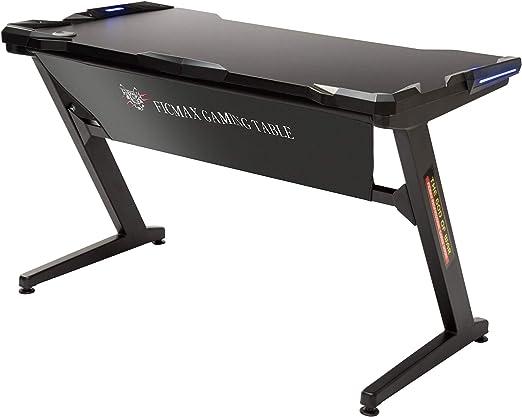Amazon Com Ficmax Gaming Desk Z Shape Gaming Computer Desk With