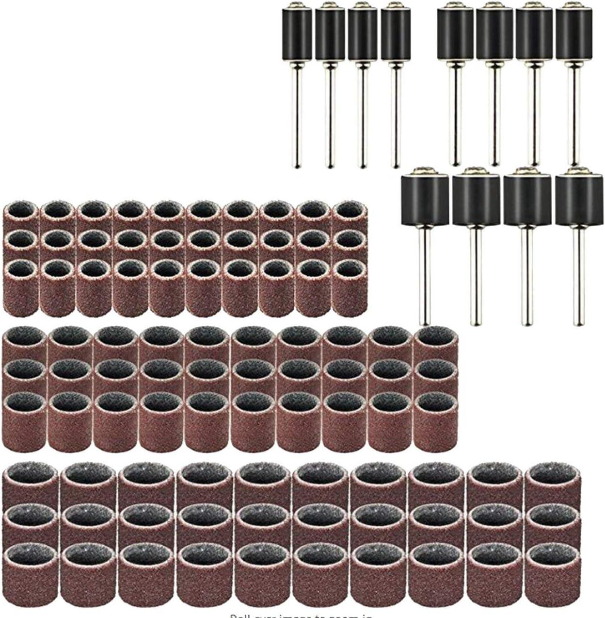 FYstar Juego de herramientas eléctricas rotativas de 102 piezas Mini taladro amoladora Kit de pulido Accesorios Bandas de lijado Mandriles de trabajo de madera (multicolor)
