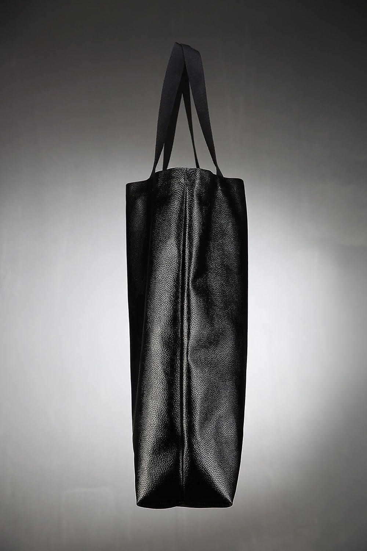 ByTheR Simple Big-size Premium Pure Cotton Useful Black Long Eco Bag