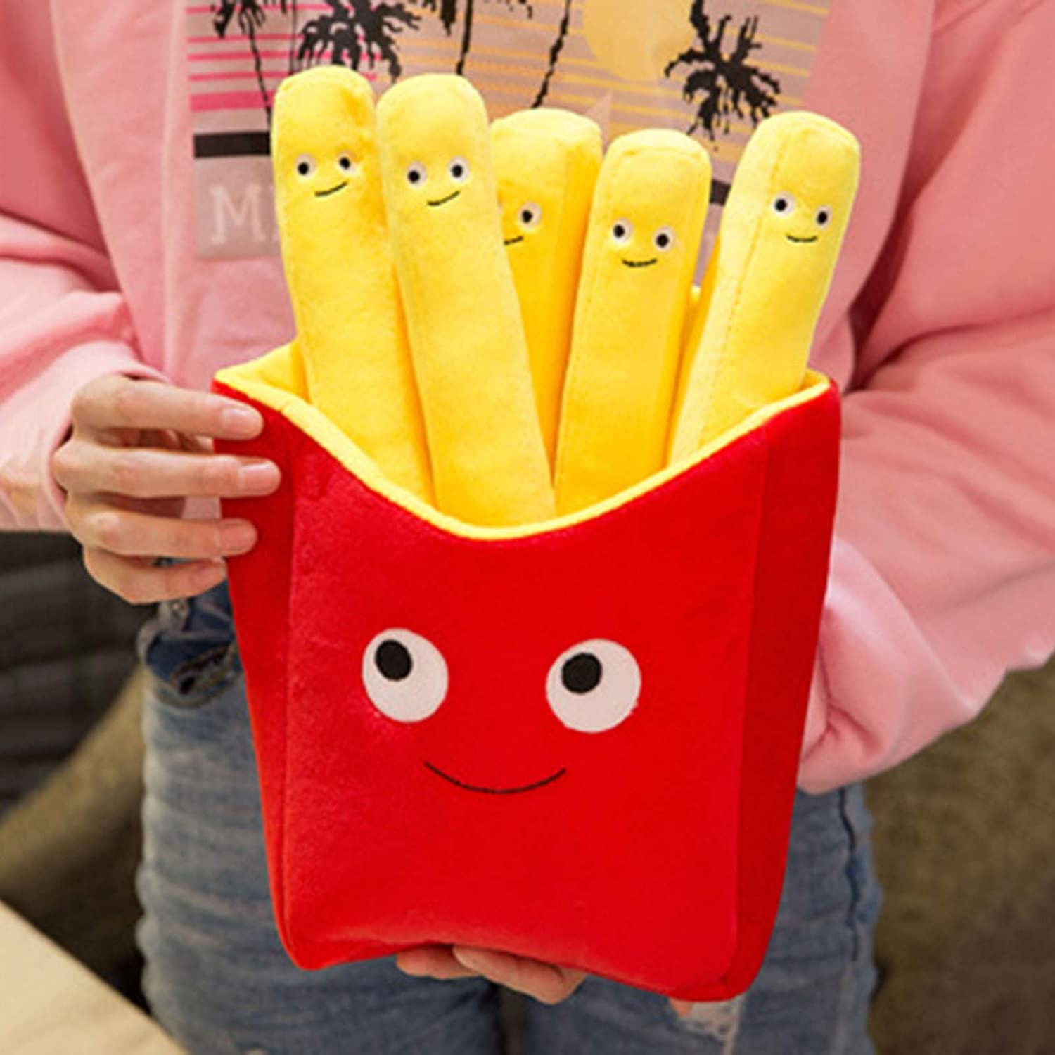 helegeSONG French Fries Plush French Fries Plushies French Fry Pillow Food Pillows for Kids Fast Food Stuffed Animals