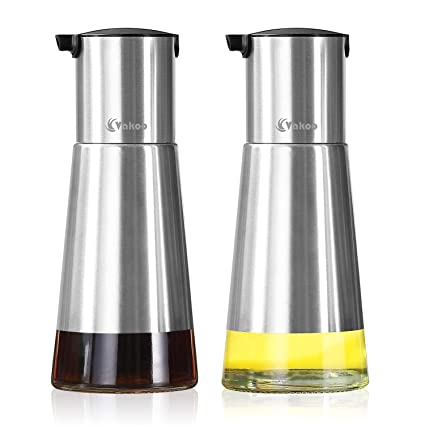 Amazoncom Kitchen Oil Dispenser Vakoo Stainless Steel Olive Oil