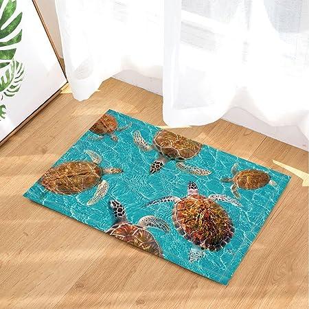 marine life sea animals turtle bath rugs maya turtles in turquoise rh amazon co uk
