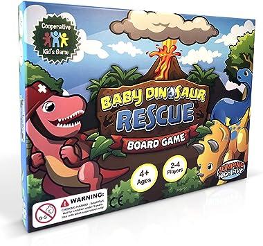 Juego de Mesa de Rescate de Dinosaurio para niños de 4 a 8 años, enseña a
