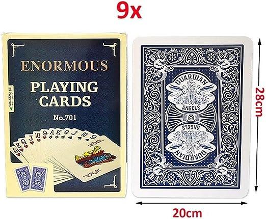 GHMOZ Jumbo Cartas De Juego Grandes Y Grandes Cartas Grandes Póker ...