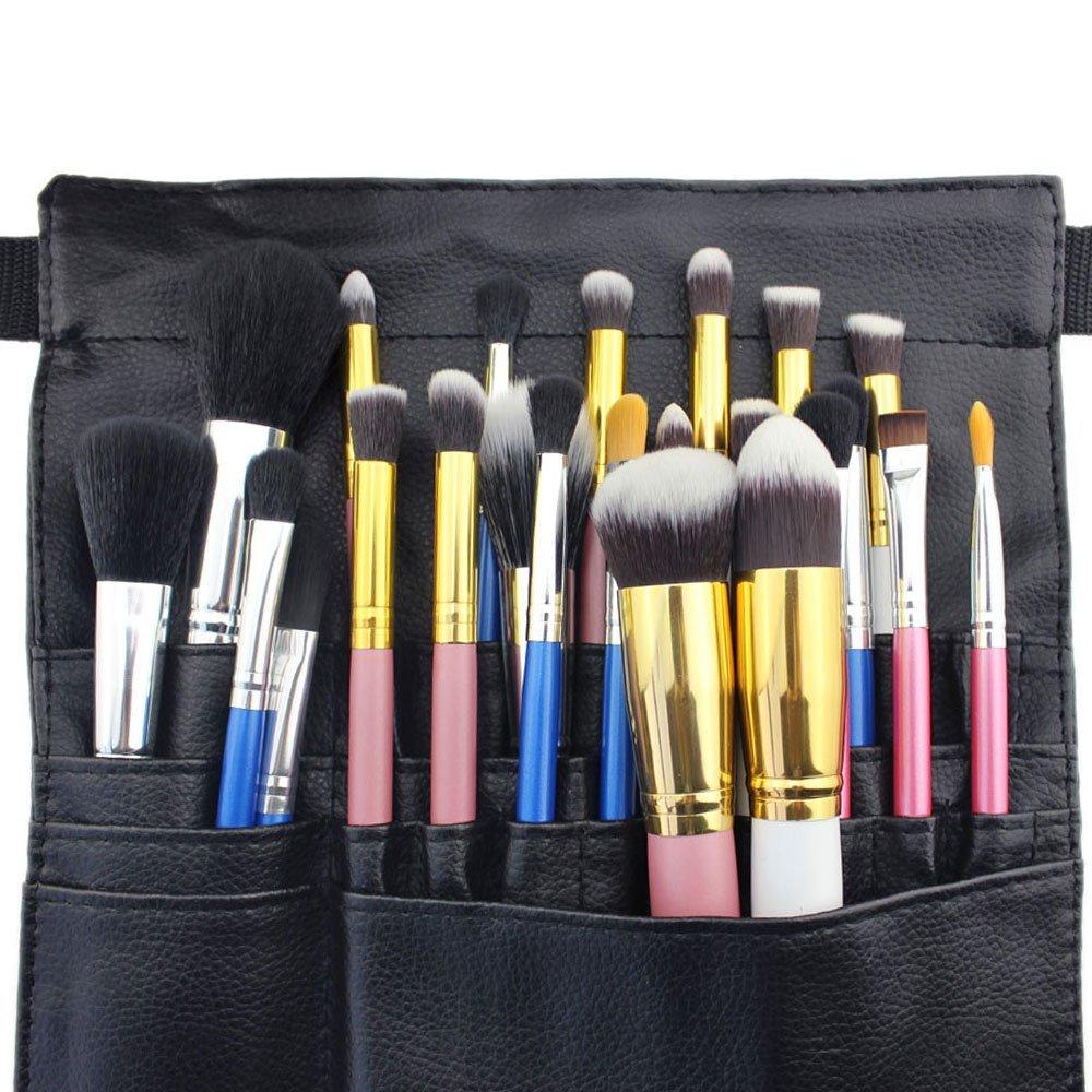 78bcee366b86 Hotrose 22 Pockets Professional Cosmetic Makeup Brush Bag with Artist Belt  Strap for Women