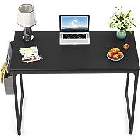 "CubiCubi Computer Desk 32"" Study Writing Table for Home Office, Modern Simple Style PC Desk, Black Metal Frame, Black"