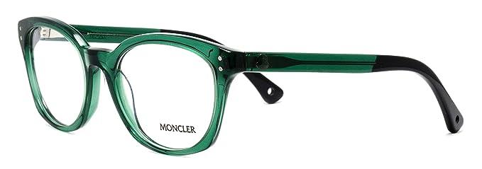 5b3cbee06c3 MONCLER - Monture de lunettes - Femme vert Green Medium  Amazon.fr ...