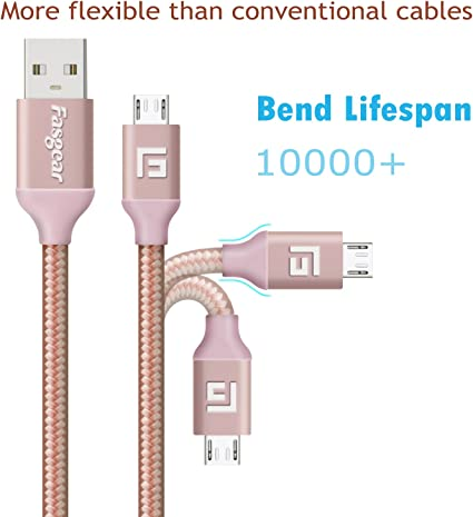 DURAGADGET Rose Gold Micro USB Data Sync Cable Suitable for HAMSWAN F68