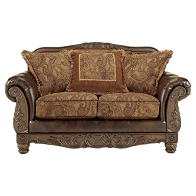 Ashley Furniture Signature Design - Fresco Loveseat with 3 Pillows - Ornate  Frame - Grand Elegance - Amazon.com: Ashley Furniture Signature Design - Fresco Loveseat With