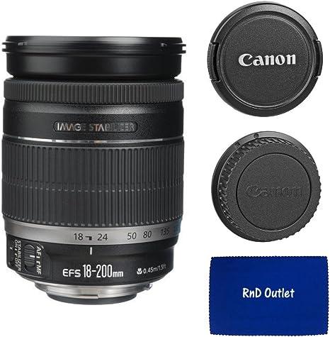 Canon EF-S 18 – 200 mm f/3,5 – 5,6 Es Lente de Zoom estándar (Caja ...