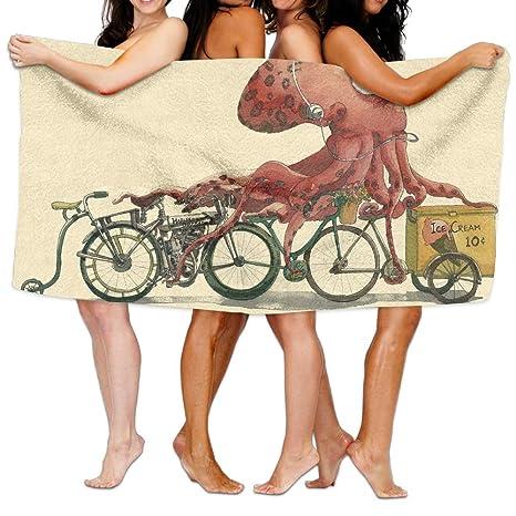 Pulpo Unisex toalla de baño Wrap – microfibra Toallas de playa al aire libre – dormitorio