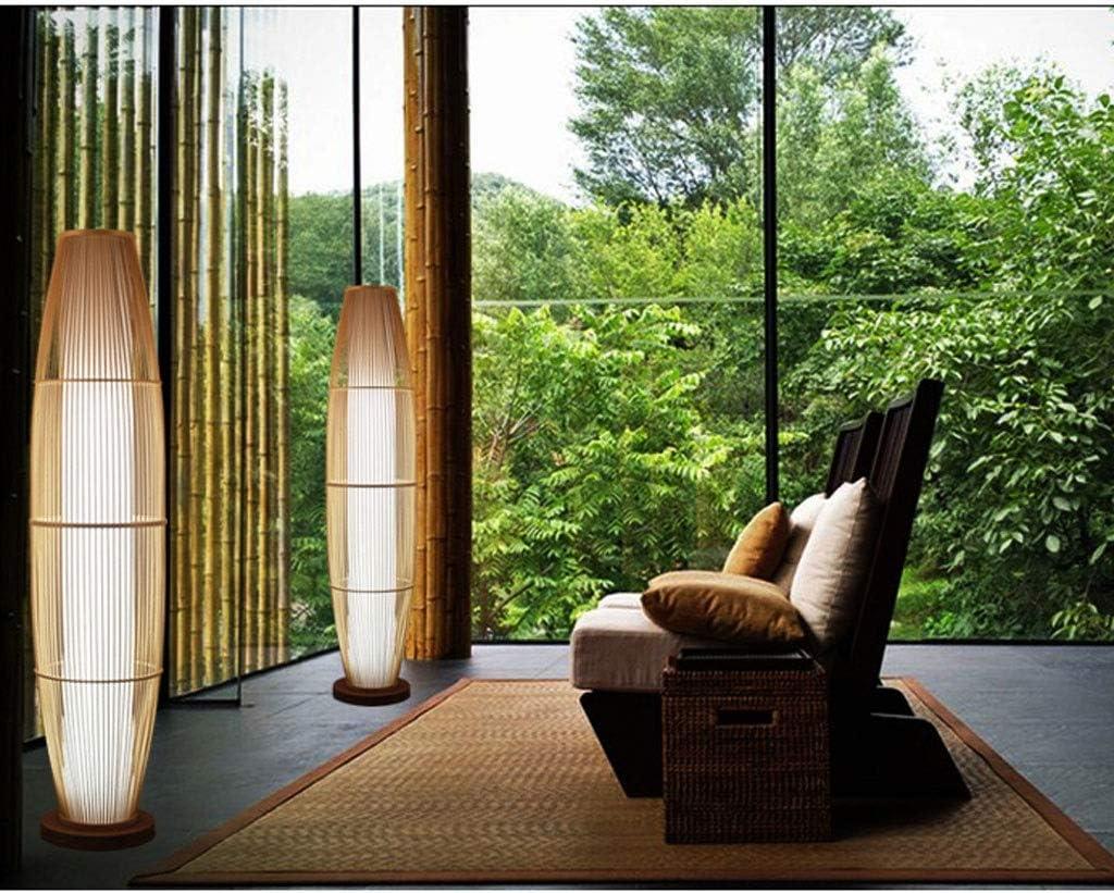 Lampada da Terra Bamboo Vimini Rattan Ombra Forma di Vaso Lampade da Terra Rustico Asiatico Giapponese Arte nordica Apparecchio for Illuminazione Lampade da Terra H130cm Lampade da Terra