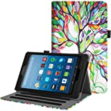 Fintie Case for All-New Amazon Fire HD 8 Tablet (7th and 8th Generation Tablets, 2017 and 2018 Releases) - [Multi-Angle Viewing] Folio Stand Cover with Pocket Auto Wake/Sleep, Love Tree