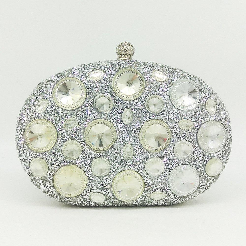 MYJ Bolso de señora señora Diamante Bolsa de Embrague Color Rhinestone Bolsa de Cena de Diamantes Caliente Mini Mano Bolso del Banquete,Rosa roja: ...