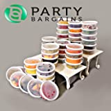 Plastic Food Storage Containers with Lids, 8 Ounce, Pack of 48 Airtight, Temperature Resilient Leak Proof Deli Containers, Microwave & Dishwasher Safe, Stackable, Reusable (8oz, 48pc)
