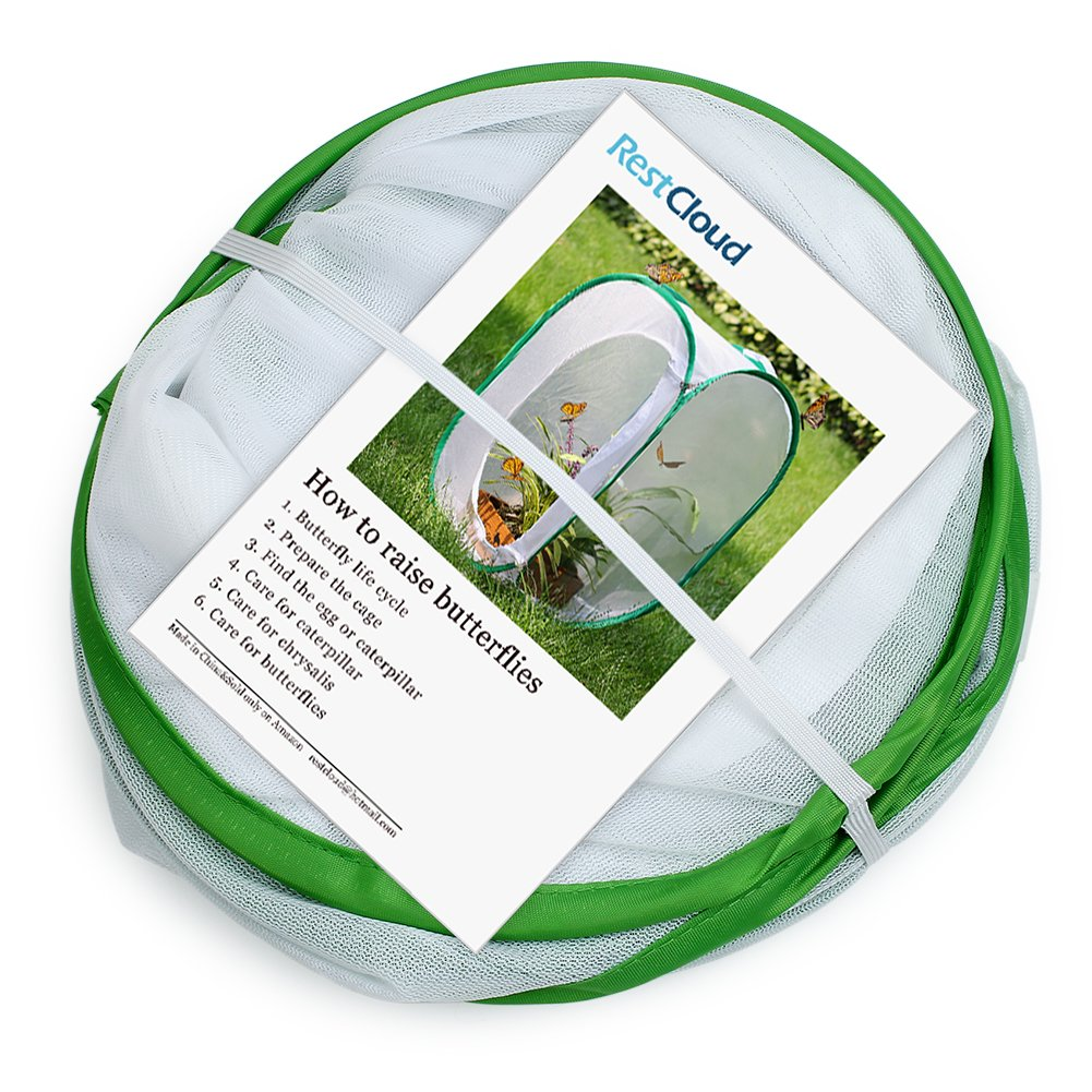 Restcloud Insect and Butterfly Habitat Cage Terrarium - Pop-up 23.6 Inches Tall (White) by Restcloud (Image #2)