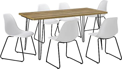 en.casa]®] Mesa de Comedor Elegante con Patas de Horquilla - 160cm ...