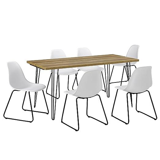 en.casa] Mesa de Comedor Elegante Capacidad para 6 Personas - Pata ...