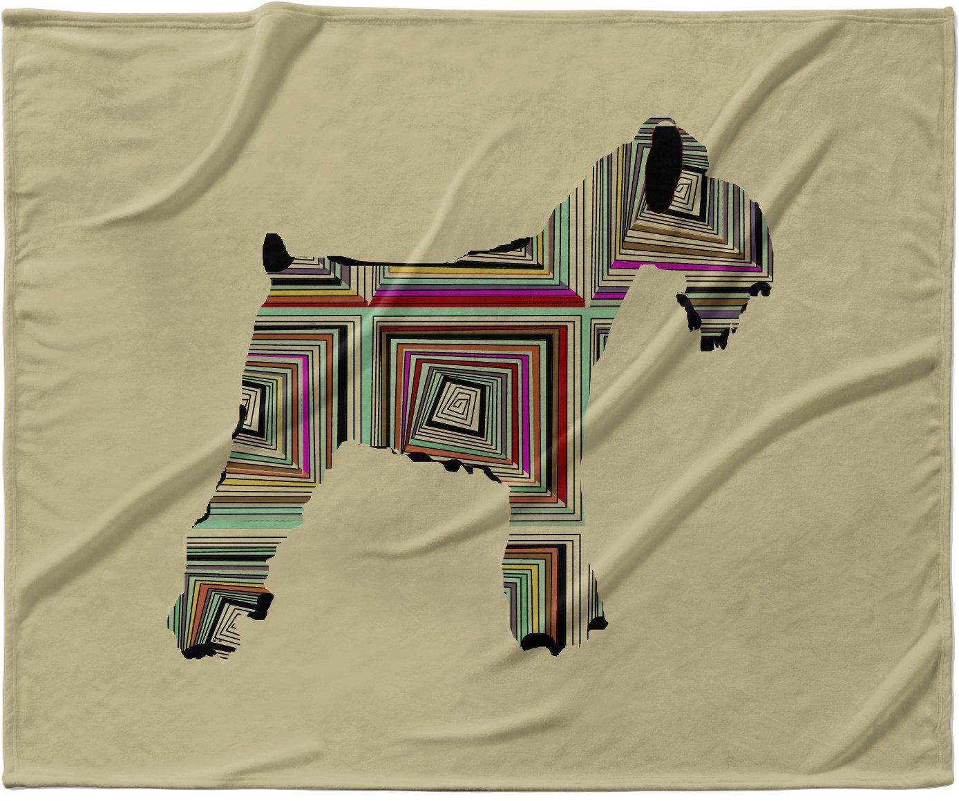 40 x 30 KESS InHouse Bri Buckley Schuavzer Brown Fleece Baby Blanket